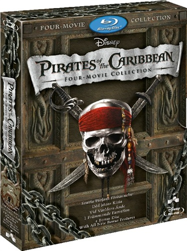 Pirates of the Caribbean four movie collection